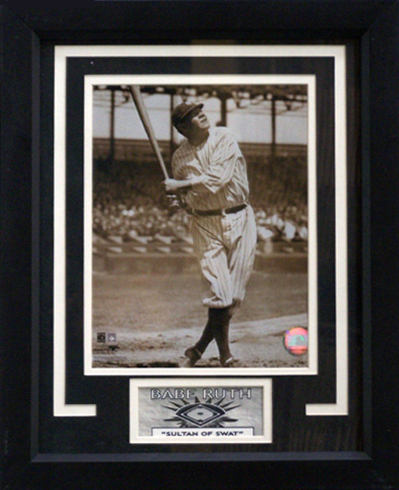 Babe Ruth Of The New York Yankees Photograph In A 11 X 14 Deluxe