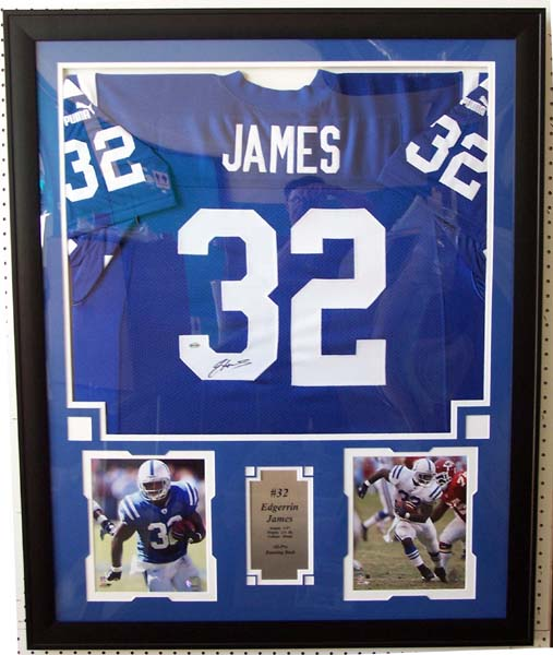 Edgerrin James Framed Autographed IndianapolIs Colts Home Jersey ...