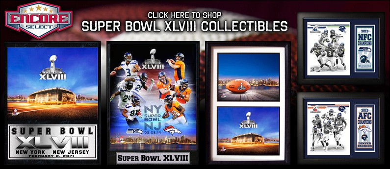 Super Bowl XLVIII Framed Memorabilia - Seahawks vs. Broncos