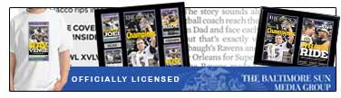 Officially Licensed Baltimore Sun XLVII Champions Apparel and Collectibles